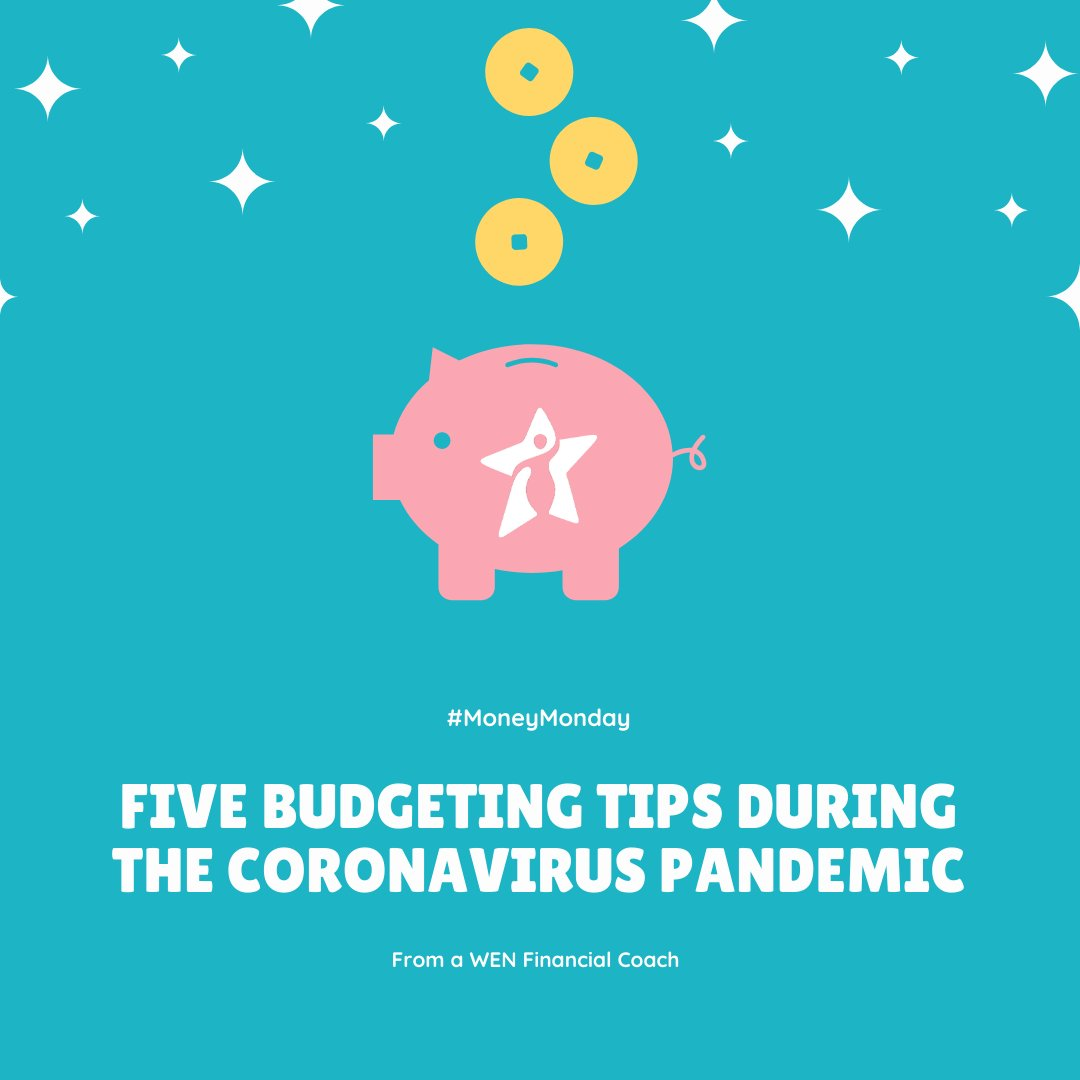 Latoya Woods, #WEN Client Services and Financial Coach, offers five tips for budgeting during these uncertain times.  Sign up for our free ONLINE Budget 101 workshop 4/9, 9AM. http://tinyurl.com/WENBudget  #budgeting #budgetingduringacrisis #budgetingtips #COVID19 #MoneyMondaypic.twitter.com/byQyRtRbKG