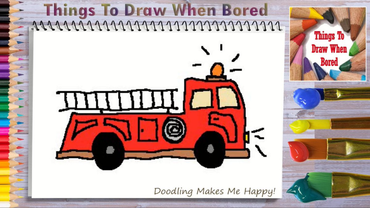 How To Draw A Firetruck ( Things To Draw When Bored )  Wee OOO Wee OOO...  Let's draw a firetruck! https://youtu.be/MnJwYSO0gLc   #firetruck #emergency #paramedic #doodle #doodles #drawingaday #drawingdaily #drawingeveryday #artoftheday #drawing #anxiety #depression #arttherapypic.twitter.com/sOVEcH14kj