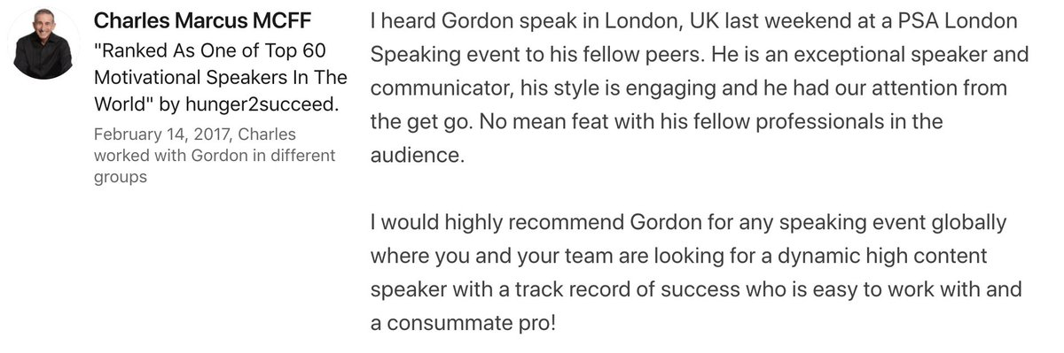 If you'd like to book Gordon to speak at your Event email gordon@gordontredgold.com 38 #events #eventprofs