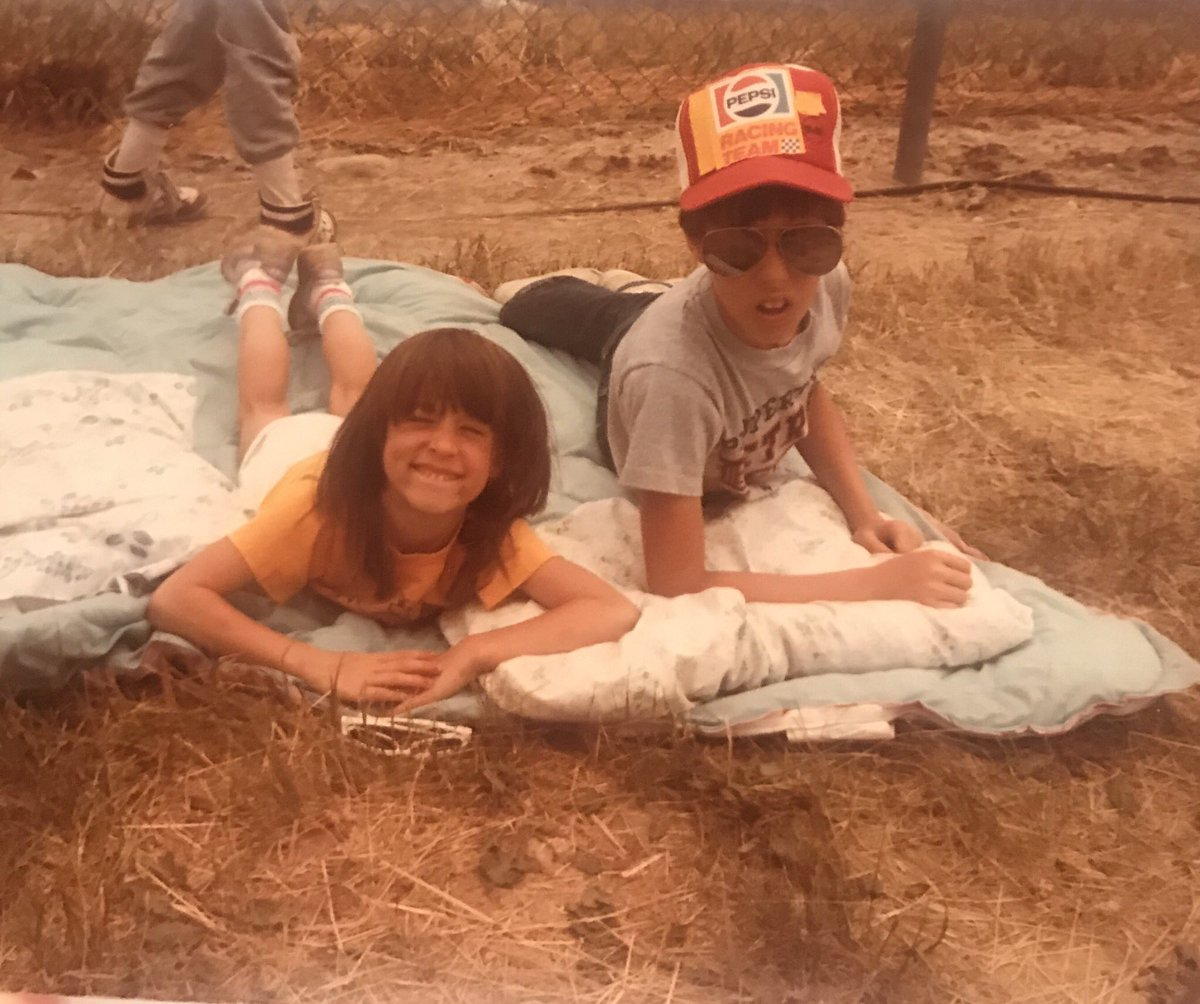This might be my favorite picture of my brother and I. For some reason my parents thought it was appropriate to take two kids to camp out in the middle of the race track at the Indy 500.