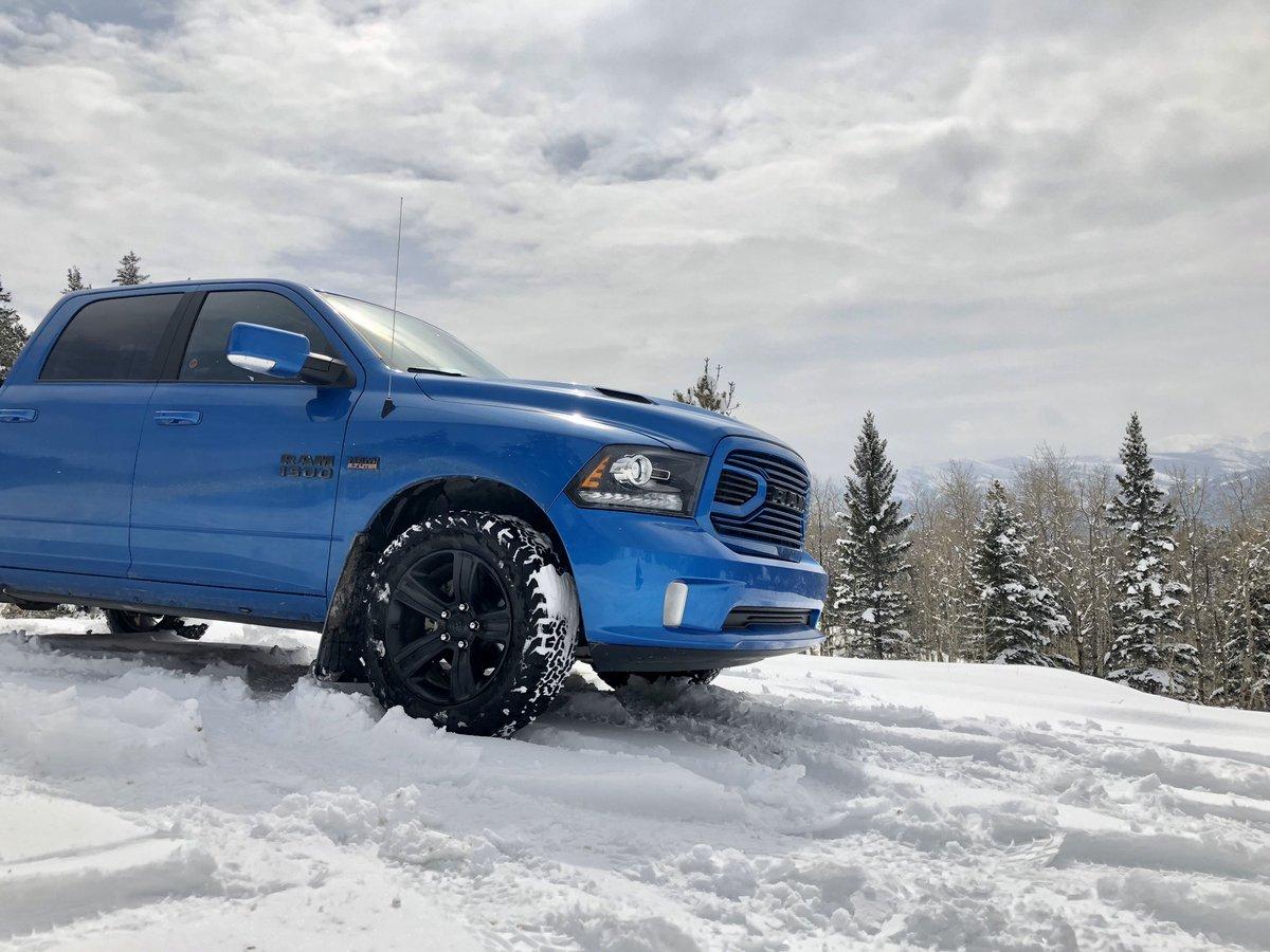 The #Hemi loves it's new home #Dodge #Ram #Sport #HydroBlue #CanadianRockies #RockyMountains #ExploreAlberta #Alberta #Adventurespic.twitter.com/r97Vb9YxwD – at Frank Slide
