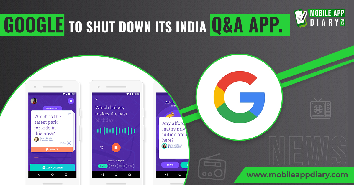 @Google can shutdown its Q&A app that was launched two years back in mumbai.  . . . #appnews #appalerts #appknowledge #appindustry #mobileappworld #googlenews #googleupdates #MobileAppDiarypic.twitter.com/QSqC8ta4c7