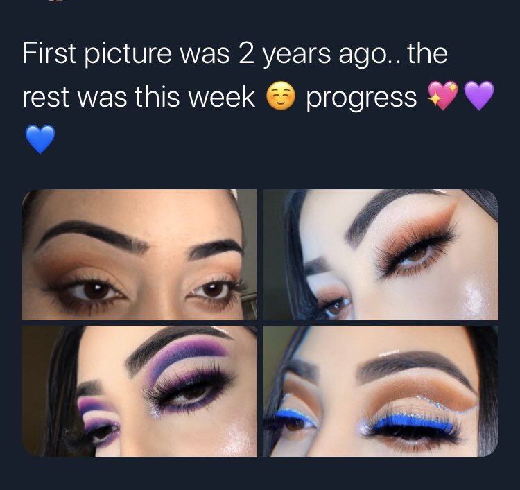 I really came a long way & I'm so proud of myself. I have so much more to learn & I'm ready #makeupartist #morphe #mua #makeuppassion #makeuptutorials #glammakeup #undiscoveredmuas #muasupport #mualife #muaintraining #morphe  #beauty #beautyguru #beautygurus #extra #makeuplovepic.twitter.com/KegDFsREjX