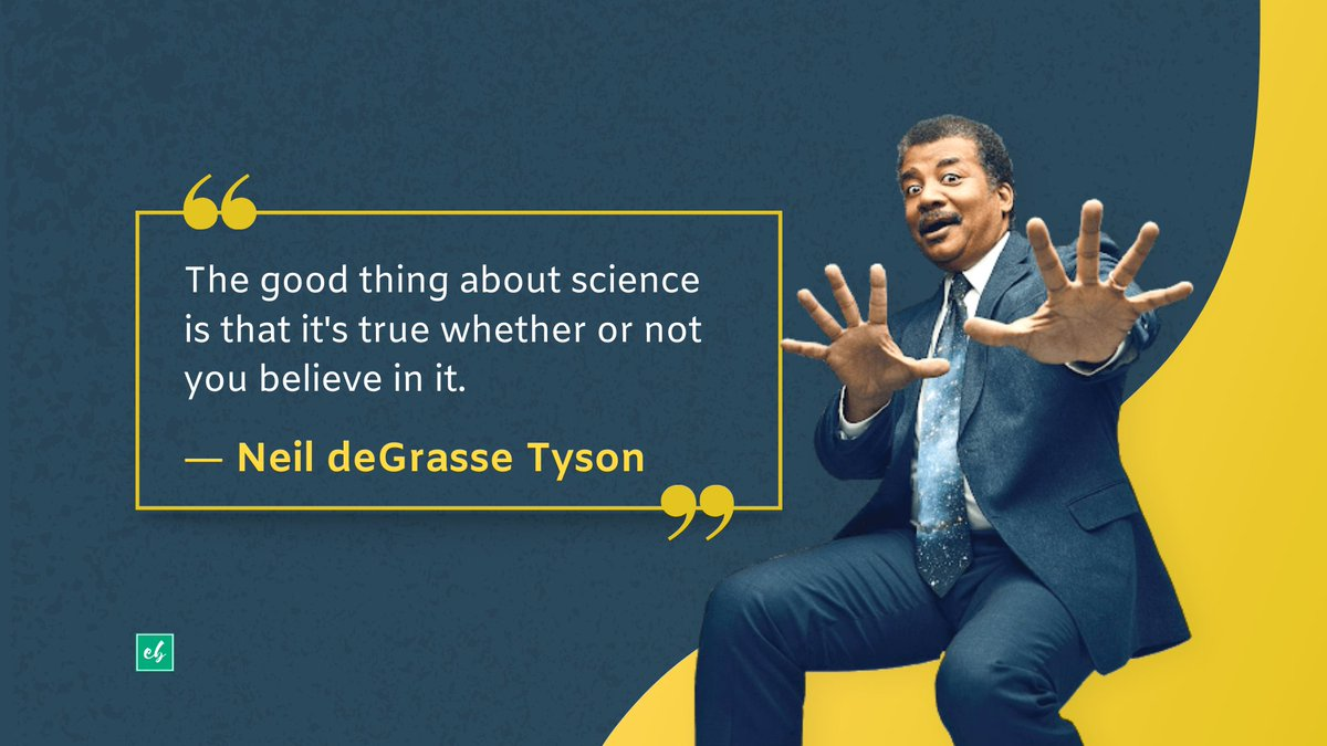 Neil deGrasse Tyson is an #American #astrophysicist who hosted ' #NOVA ScienceNow' and makes media appearances to encourage #science and space #exploration. #sciencequotes #thoughtoftheday #MondayMotivation #research #space #exambazaar #edtech #learning #experimentpic.twitter.com/eLk9aiNC0Z