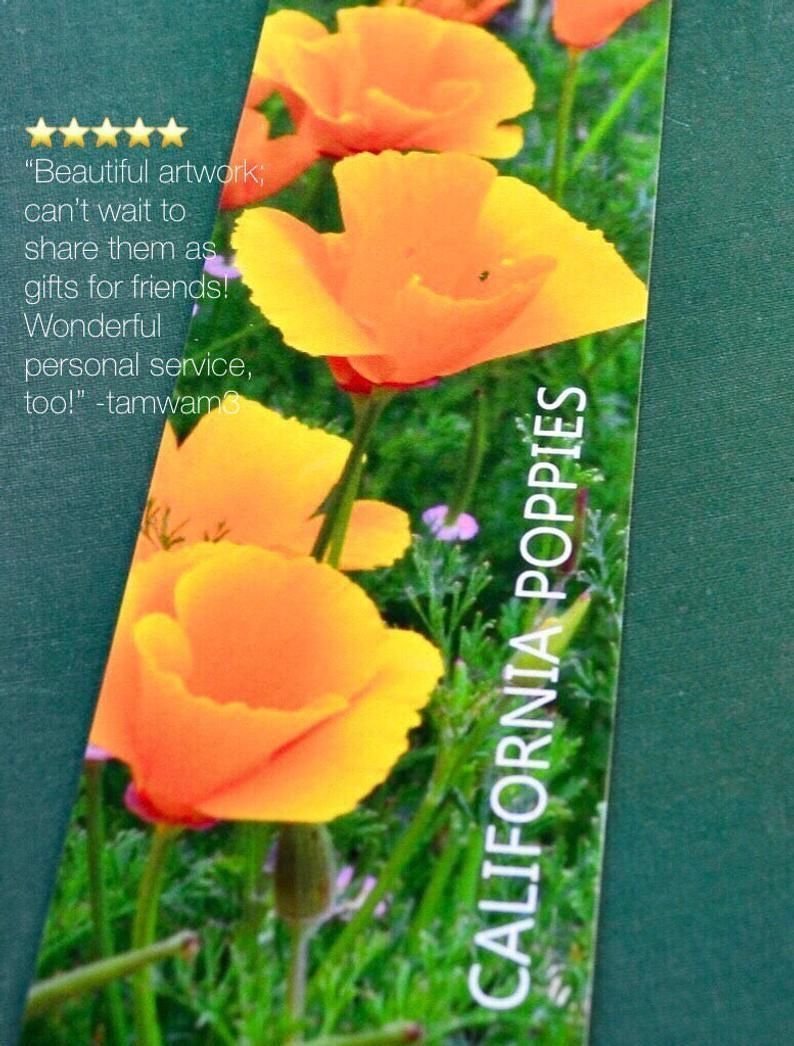 On SALE • It's California poppies time! Mark your spot with these exquisite photography bookmarks. Advanced archival inks and fine art paper, clear sleeve for protection. So giftable! https://buff.ly/2JflHZT #etsymntt #California #flower #Readpic.twitter.com/6raWnAzQmF