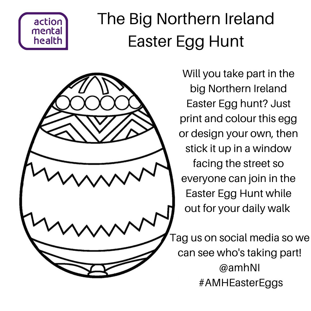 Join in our Big Easter Egg Hunt #arttherapy #AMHEasterEggs #MentalHealth https://www.amh.org.uk/news/the-big-northern-ireland-easter-egg-hunt/ …pic.twitter.com/JKniHaecFO