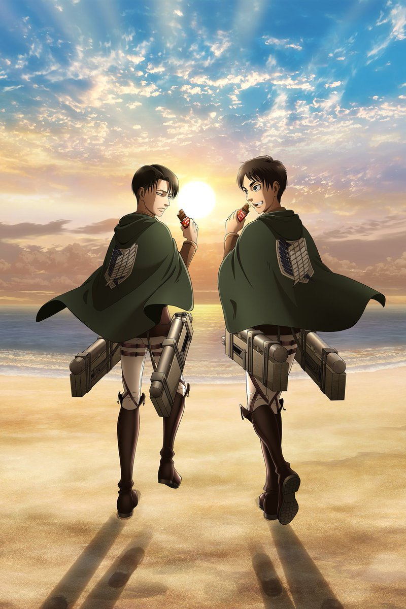 Attack On Titan Wiki On Twitter Attack On Titan X Morinaga Collaboration Visual Mobile Version Wallpaper