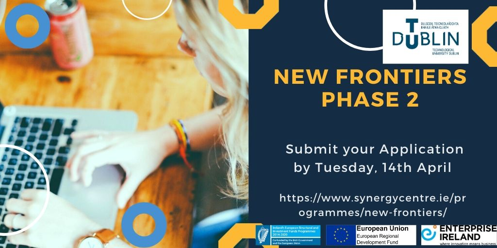 The search for start-ups with great potential for growth continues. @EI_NewFrontiers Phase 2 is open for applications until the 14th of April. Check our website for more details https://tinyurl.com/ydgymjwg #Entrepreneurship #startups
