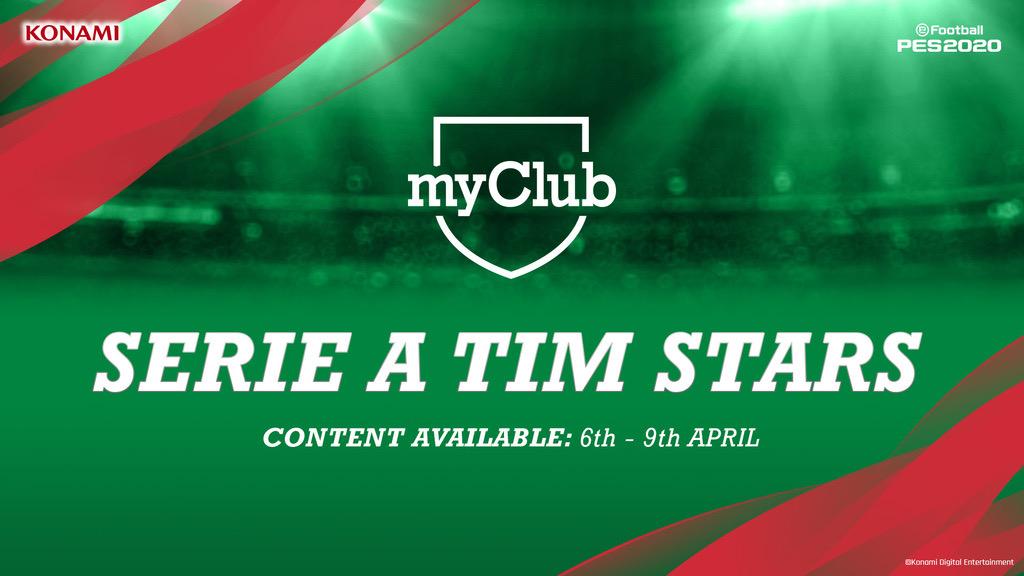 This week in #myClub...  ⭐ Serie A Stars ⭐ Club Selection: Juventus ⭐ Club Selection: AC Milan  #eFootballPES2020