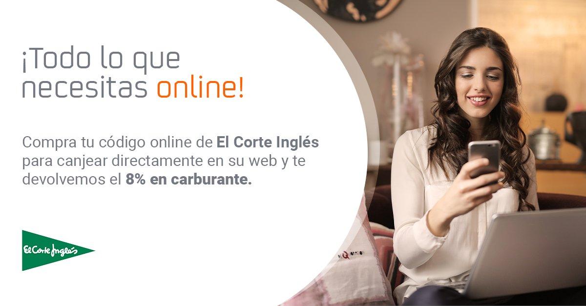 ¡Todo lo que necesitas a un solo clic! 😊 Compra tu código online de @elcorteingles para canjear directamente en su web: #moda, #electrodomésticos, #juguetes, #perfumería y mucho más…¡Y  te devolvemos el 8% en carburante!