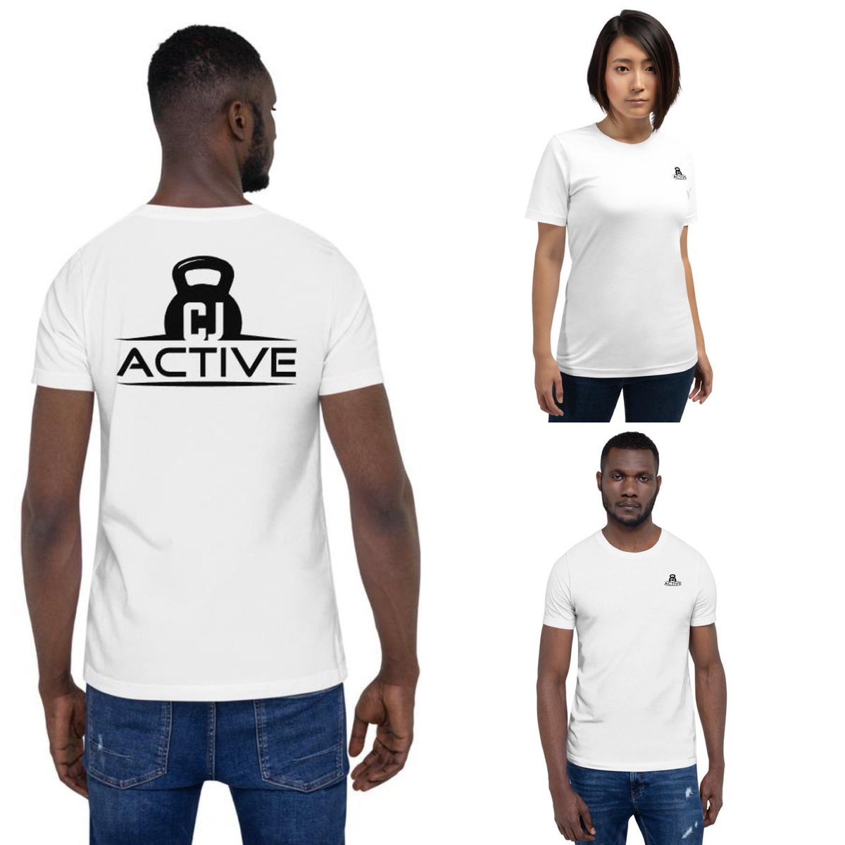 Logo tees available now, perfect for the gym! Get YOURS now! https://cjactive.com/collections/frontpage/products/unisex-premium-t-shirt-bella-canvas-3001… #CJactivepic.twitter.com/uDAX1iv5dd