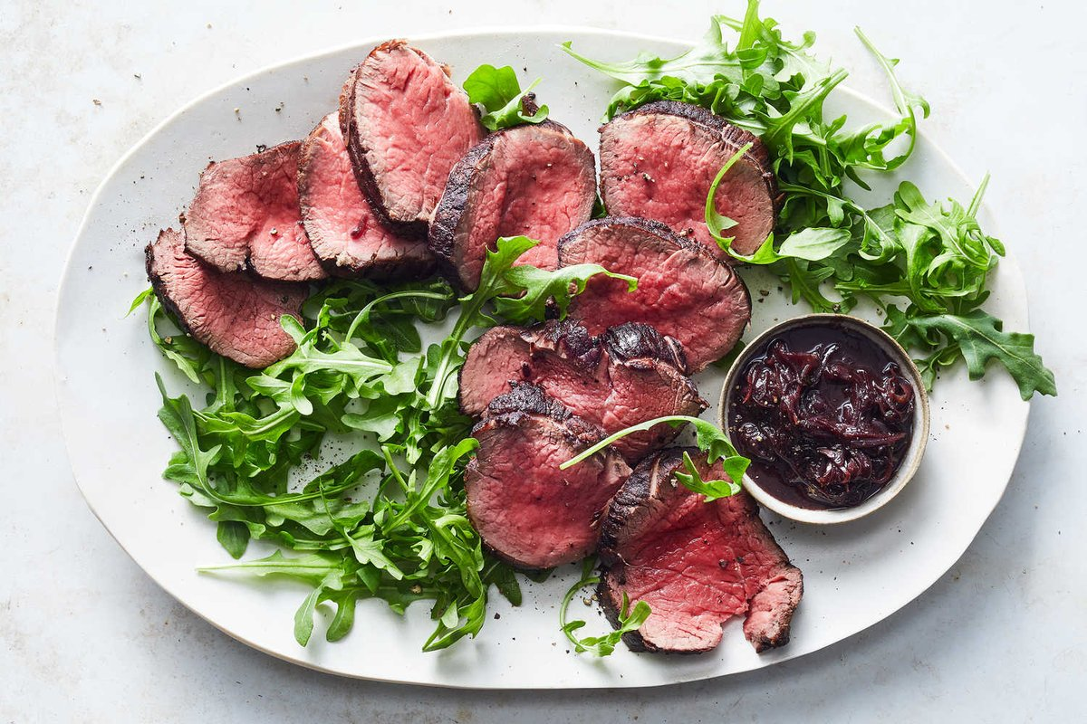 Beef Tenderloin With Red Wine, Anchovies, Garlic and Thyme    #Anchovy #Arugula #ArugulaLeaves #AvocadoSalad #BeefTenderloin #RedWine #Shallot #TheAnchovyredwineSauce   https://www.diningandcooking.com/70905/beef-tenderloin-with-red-wine-anchovies-garlic-and-thyme/ …   .pic.twitter.com/Je70HxiuTX