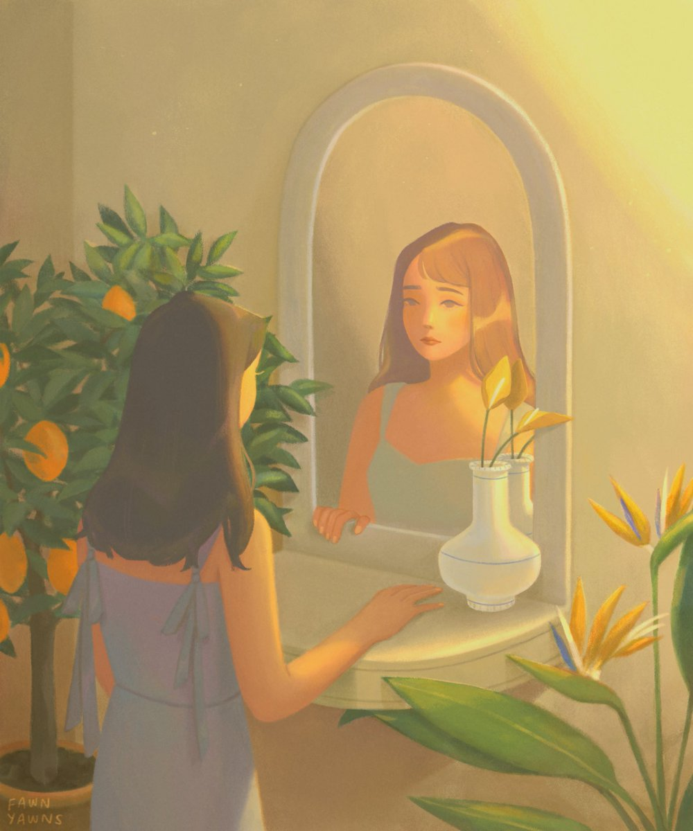 tired out looking at my own reflections #digitalart #illustration pic.twitter.com/LehXkzIcfE