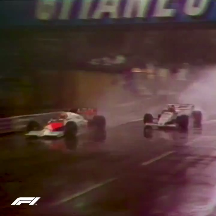 Pouring rain. Legendary Niki Lauda in front. Full send into Sainte Devote.  The moment Ayrton Senna announced himself as a future icon 👏👏👏   #F1