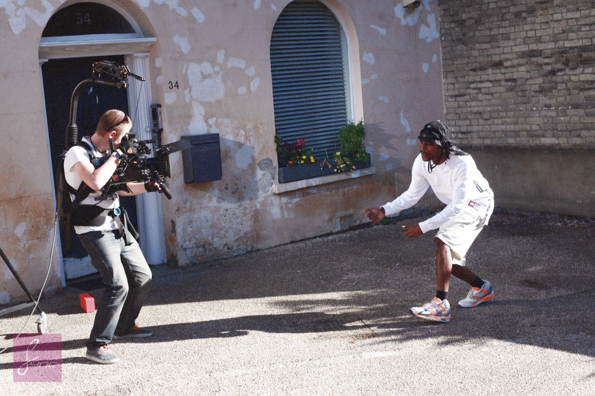 Filming with the legend that is JME - give his music a listen :-D #videoproduction #nottingham