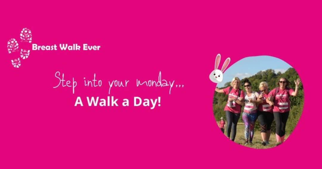 #StepIntoYourMonday 🎗️ 🐣 Make sure you get your walk a day in everyday this week! #againstbc #againstbreastcancer #breastwalkever #charitywalk #breastcancer #pinkribbonbingo #breastwalk #walk #pinkwalk #walkthisway #isolationfitness #easterwalk