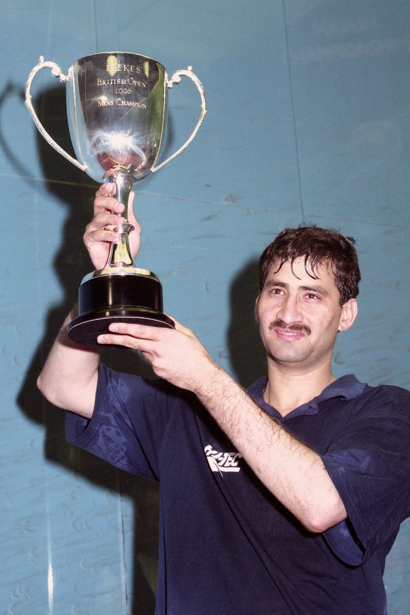 test Twitter Media - #OnThisDay in 1️⃣9️⃣9️⃣7️⃣  Jansher Khan won his sixth and final @BritOpenSquash  after beating Peter Nicol in Cardiff  #BritOpenSquash #WhereLegendsAreMade https://t.co/eVHALvcz9I