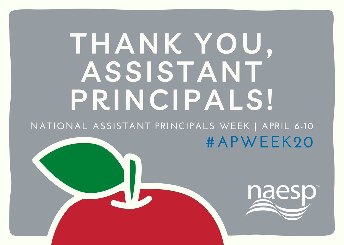 This #APWeek20, @NAESP wants to thank its assistant principals for their hard work to help their principals, students, and teachers. Check out resources we have specifically for APs—including a webinar on special ed do's and don'ts tomorrow at 3 pm ET—at https://t.co/5DNofbSDAe. https://t.co/DZ4TvguswV