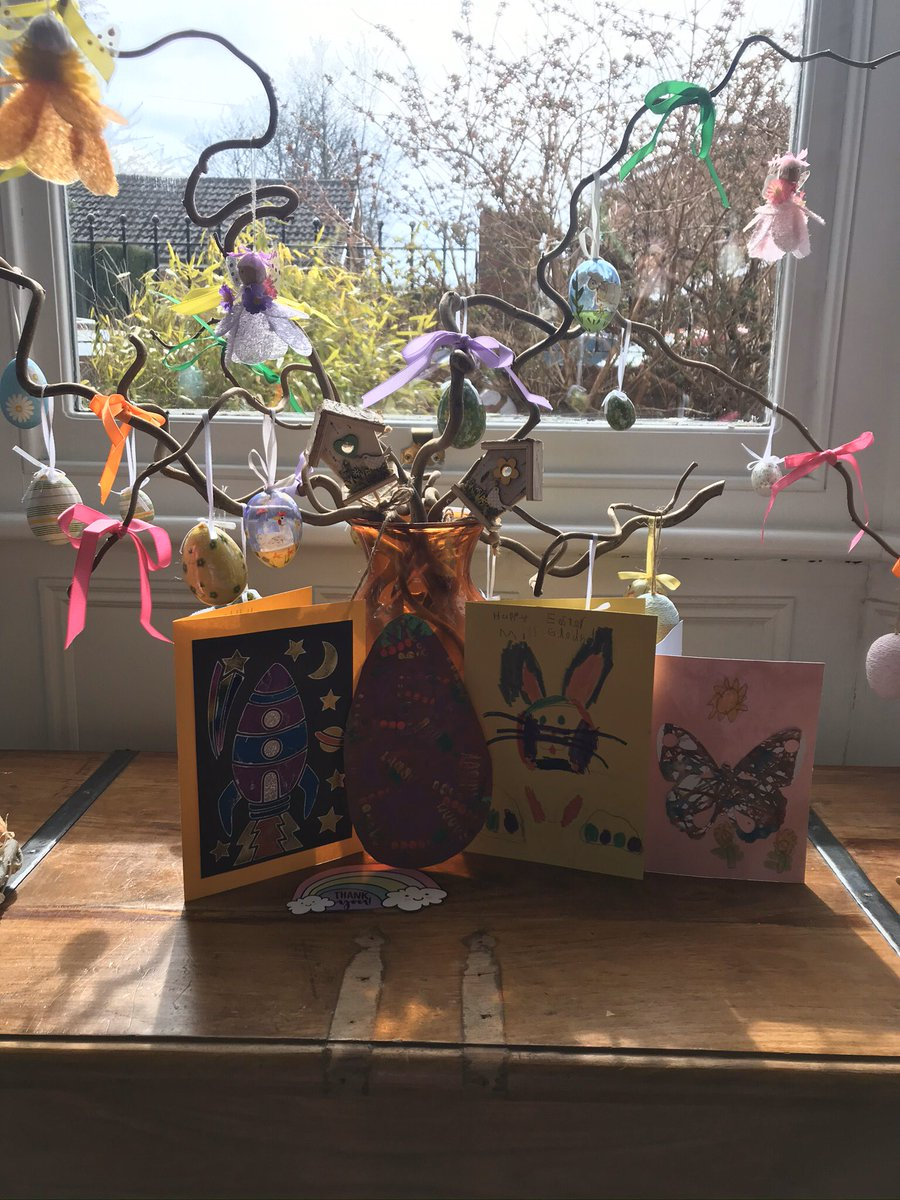 Good day @SOttCofE Satellites. Here is my Easter tree..... have you put yours up yet?