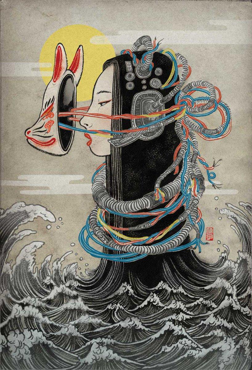 "Shimizu Yuko (Japanese, b. 1965).  ""Melancholy of Mechagirl"" / 2013.  #art #dailyart pic.twitter.com/ePUC5XQhHd"
