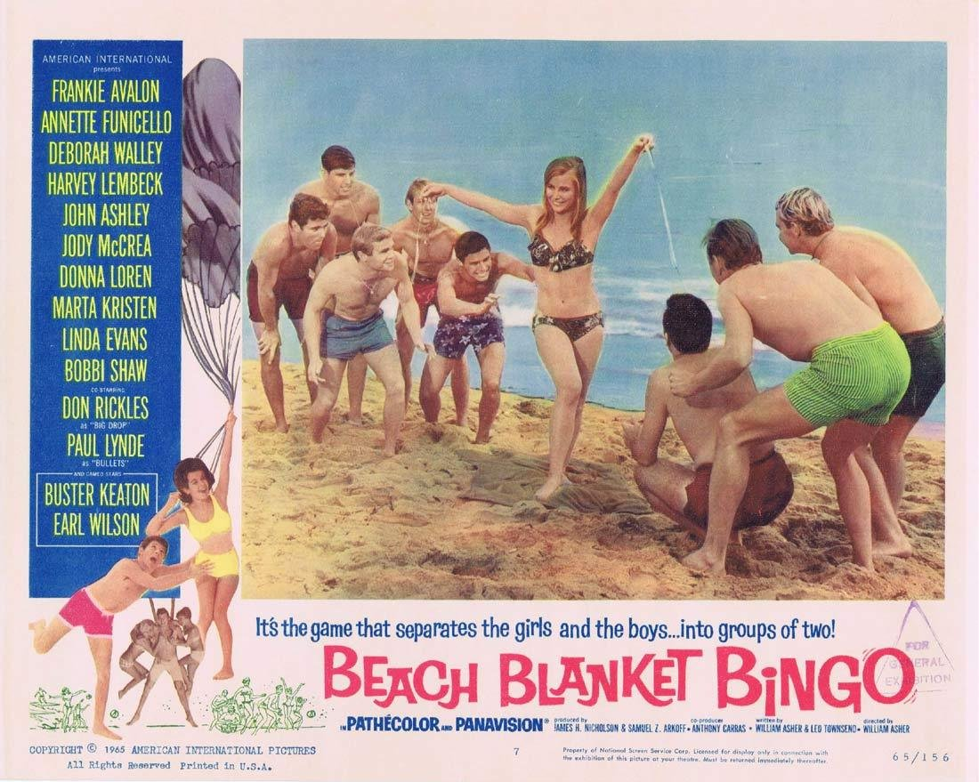 BEACH BLANKET BINGO (1965)-Things I learnt since recording the Podcast episode: There was an 80's adult film called BEACH BLANKET BANGO. #Classy pic.twitter.com/kSjhiDid0R
