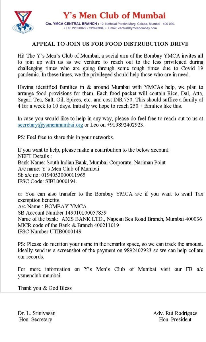 @ymcabombay @y_mumbai #philanthropy #ymca #Covid_19 #supportpic.twitter.com/aFE7l4ZurK