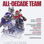 Image for the Tweet beginning: The NFL's All-Decade teams of