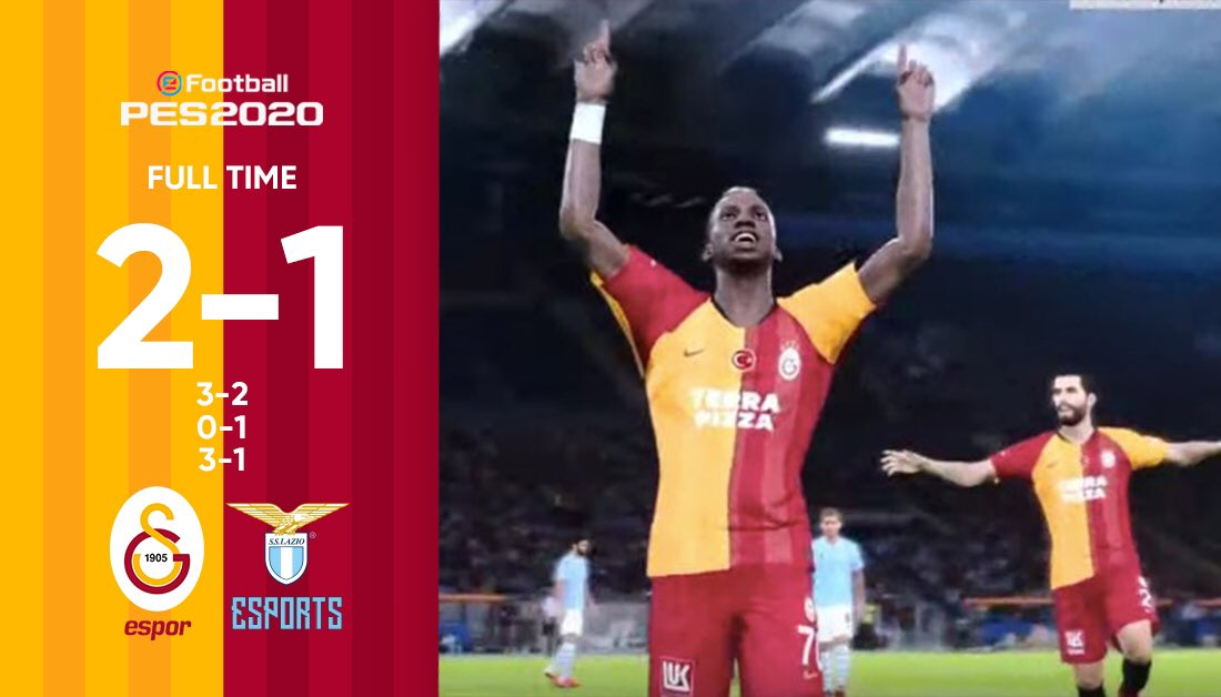 Our own @GSEsports beat @OfficialSSLazio 2-1 in #PES2020 friendly match-up.   Galatasaray 3 - 2 Lazio  Galatasaray 0 - 1 Lazio  Galatasaray 3 - 1 Lazio  GG #Lazioesports! <br>http://pic.twitter.com/Y7sDGXREn2