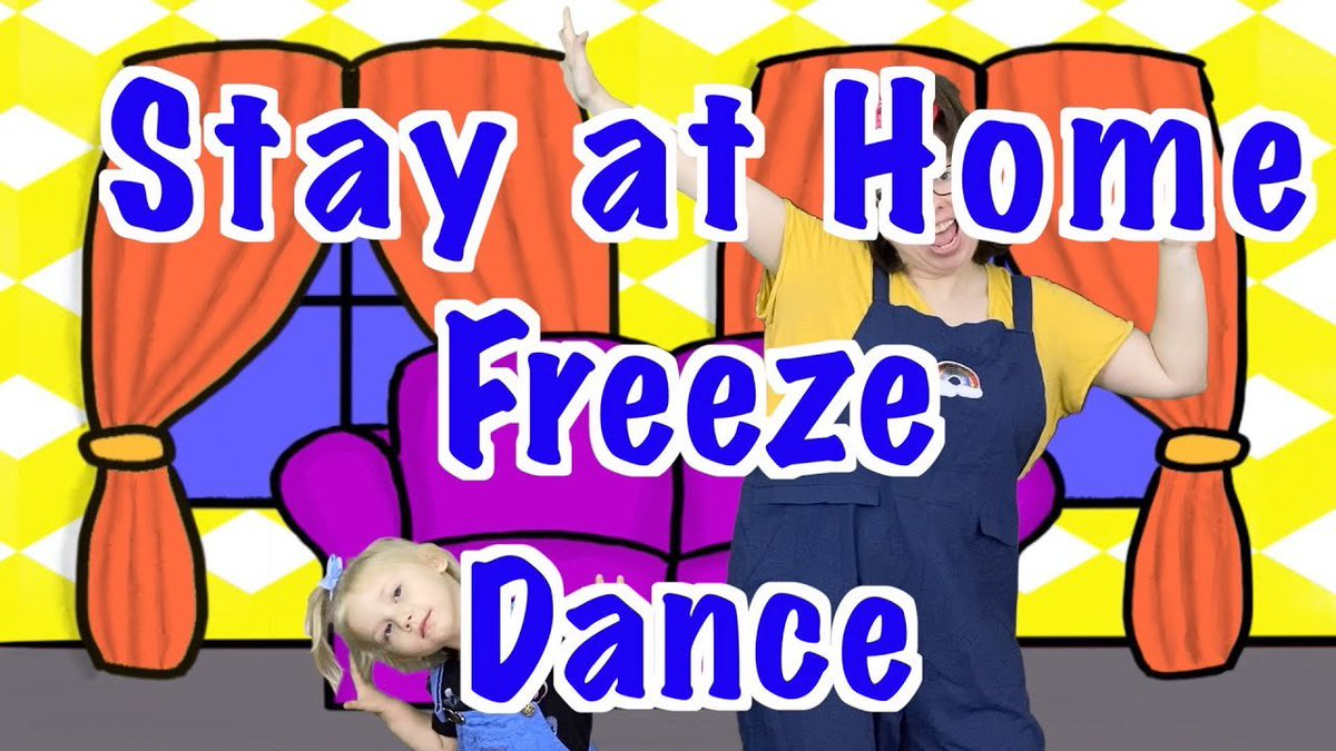It's the stay at home, stay at home, stay at home, stay at home freeze dance! Get on your feet, click on the link and enjoy a nice dance break! Keep on dancing! youtu.be/FlC-Nx13MLA#qu… #parents #dancesongs #StayAtHome #COVID19