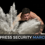 Image for the Tweet beginning: Monthly WordPress security update from