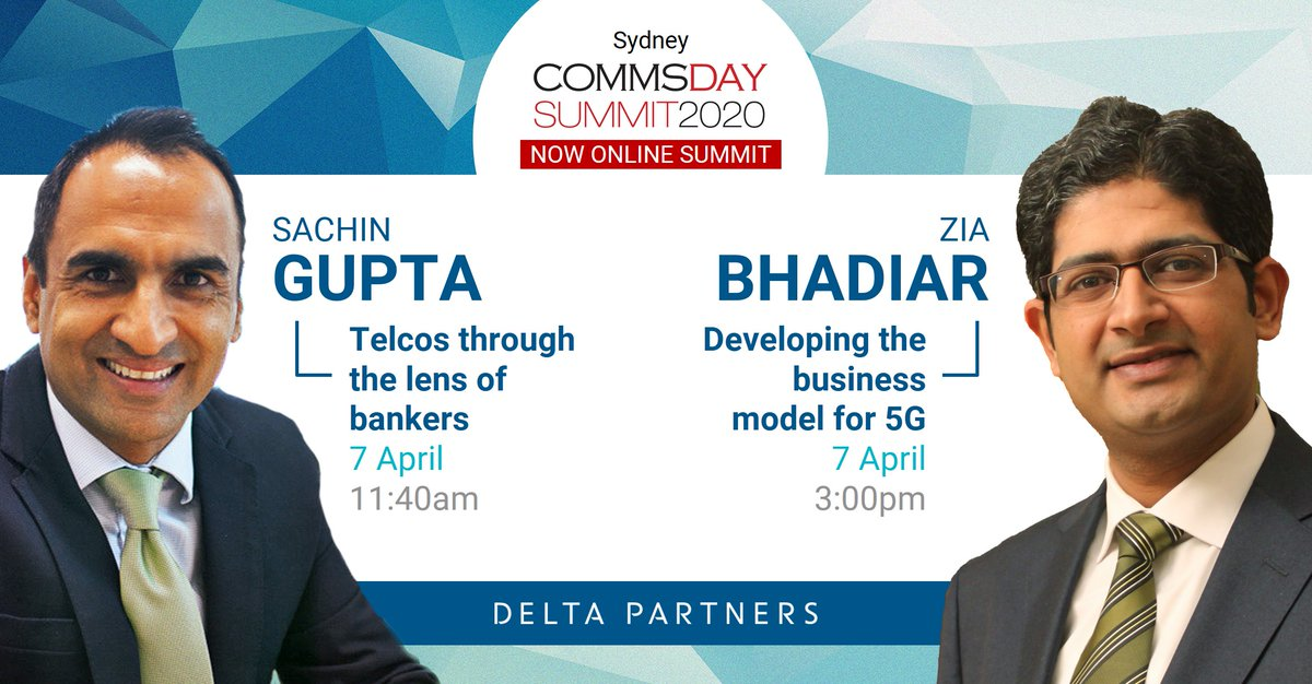 Pleased to announce that amidst all the unfortunate chaos, Sachin Gupta and Zia Bhadiar will be playing an active role in the Communications Day (CommsDay) 2020 Summit - Now Online, happening in Sydney tomorrow.