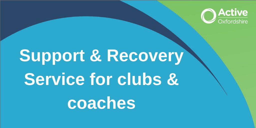 Clubs & coaches!  We're looking at how we can support the sport & activity sector in #Oxfordshire. Our Support & Recovery Service launches today, including a webinar to answer your questions on Wednesday. See here for all the info you need: https://t.co/lU6TMOY7Yo @oxcountyallin