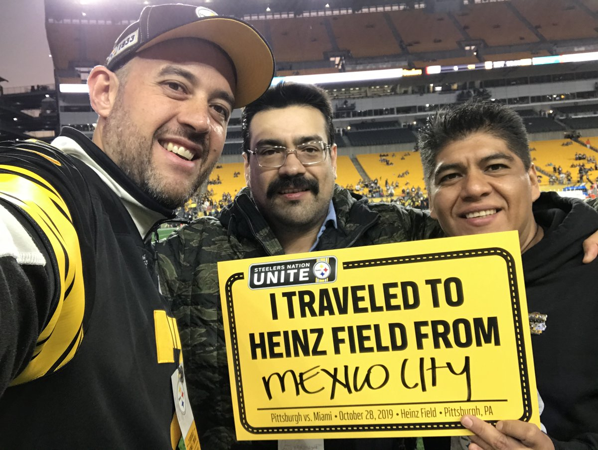 How far have you traveled for a game at @heinzfield? ✈️