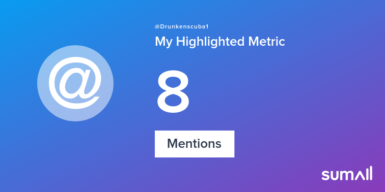 My week on Twitter 🎉: 8 Mentions. See yours with https://t.co/JQYRyrHYDP https://t.co/JgcVBKWu0E