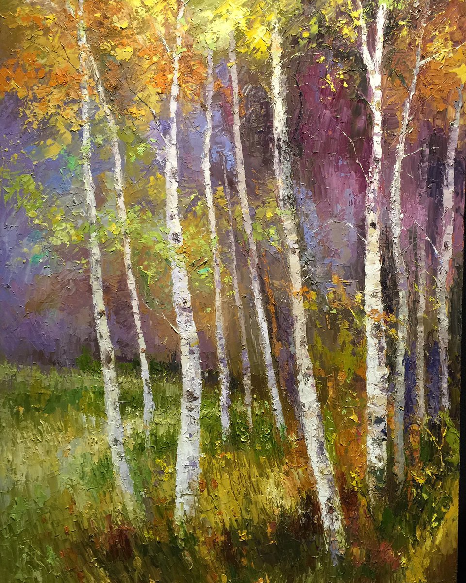 """As Night Falls""24x36 palette knife oil painting by Peggy Ann Thompson Northwest Handmade #art #artwork #ArtistOnTwitter #artist #oilpainting  #painting #fineart #impressionismpic.twitter.com/VaJjVMSqOu"