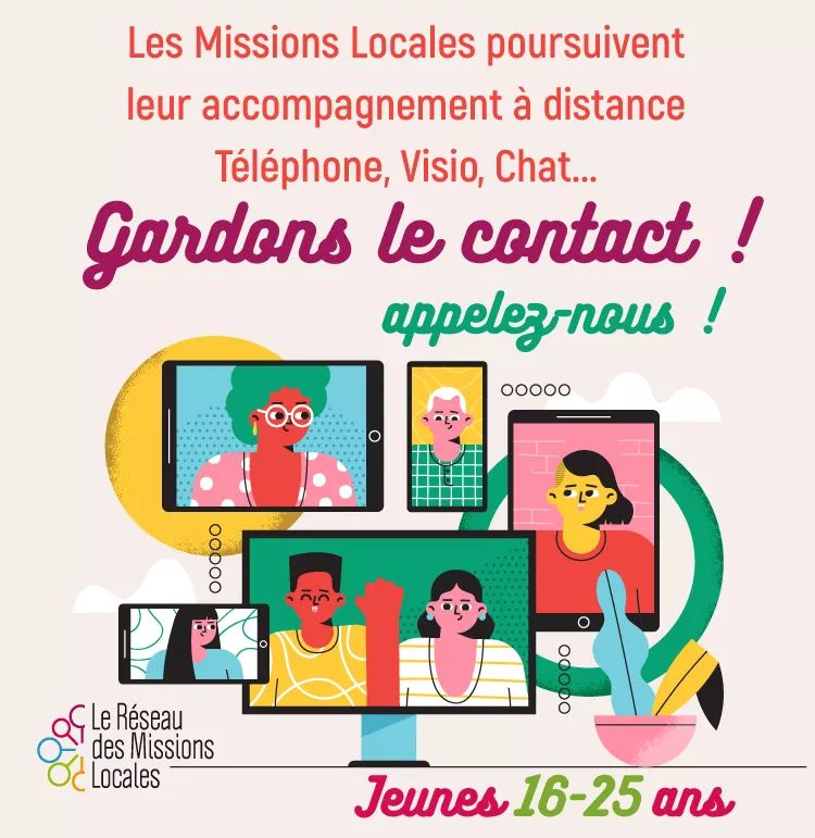 Les #MissionsLocales poursuivent leur accompagnement.  A ce lien la liste des Missions Locales Auvergne-Rhône-Alpes et la méthode pour les contacter ! Téléphone, mail, chat, visio https://t.co/J4OJN2IvWo  Alors gardons le contact !👩🧑👨👩🦰 https://t.co/mwbSKODV5w