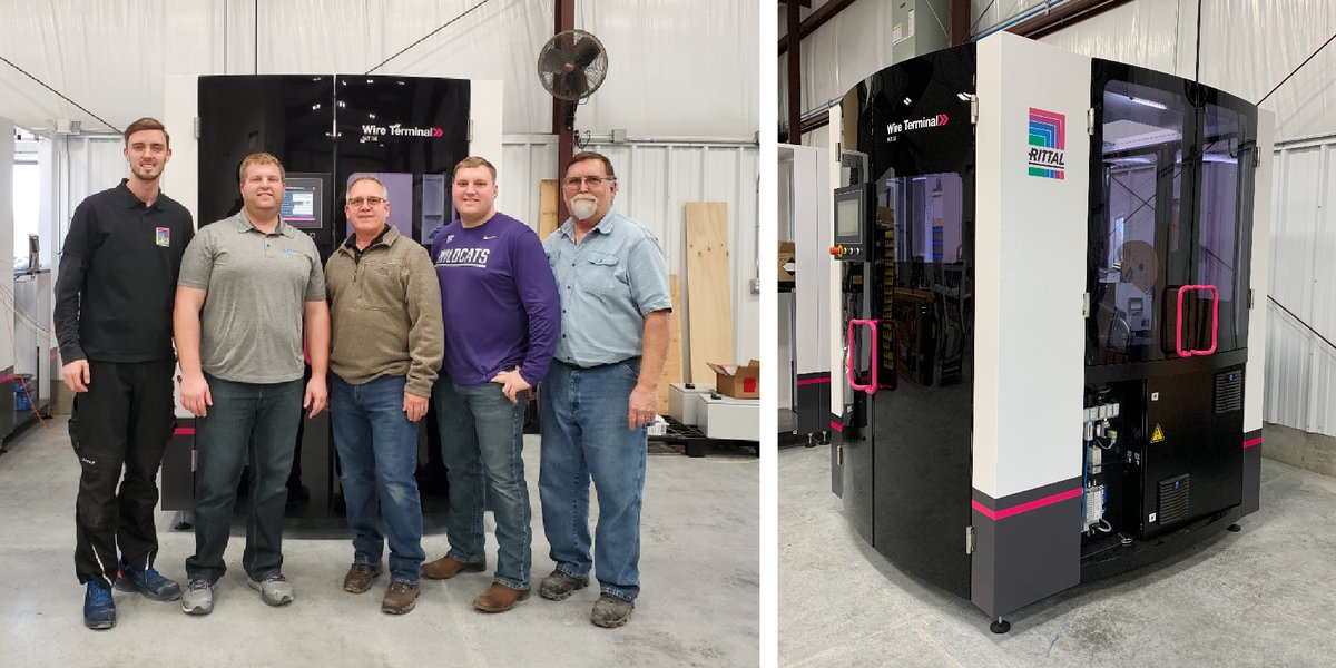 Congratulations to our RAS team on their first US Wire Terminal installation! In addition to using our enclosures and BC Machine, along with EPLAN software, this US customer has expanded their automation capabilities. #RittalValueChain