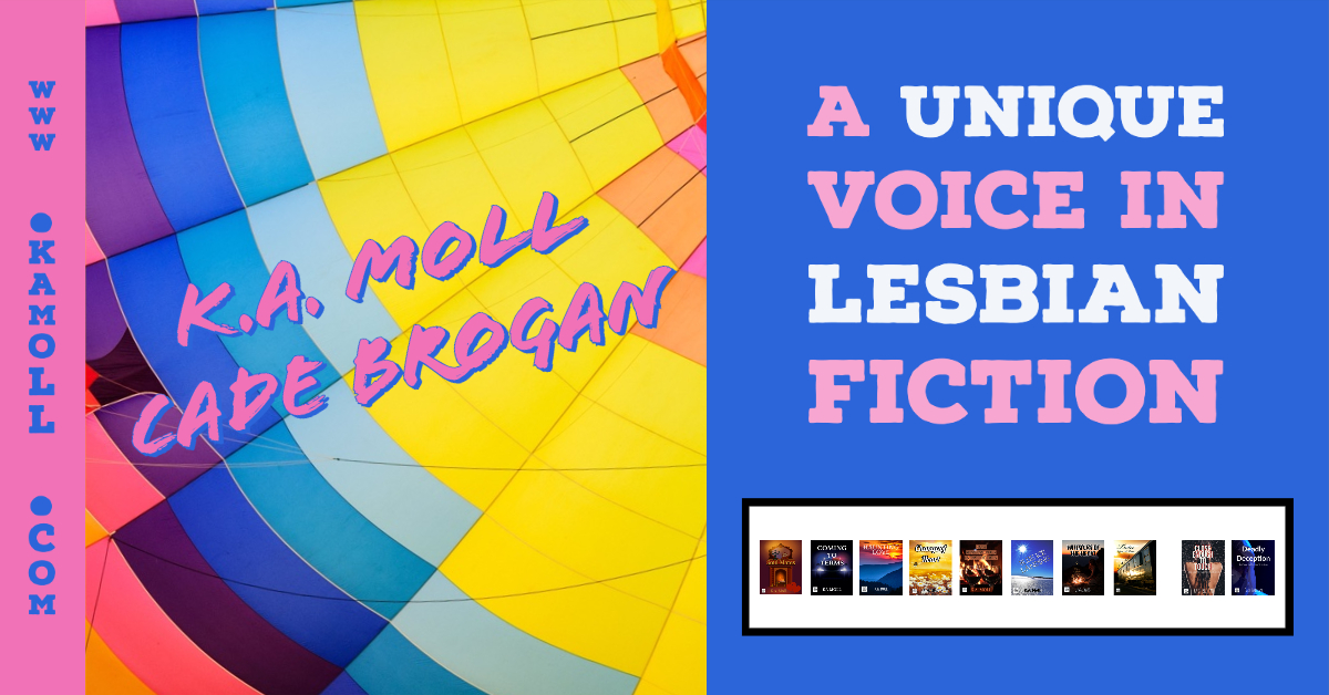 """"""" KA Moll spins yet another unexpected yet touching yarn about women in love.""""   New book OUT NOW! http://www.kamoll.com  #mustread #lesbianromance #lesbian #romance #lesfic #lesbianfiction #KAMoll #CadeBrogan @KA_Cade_Writes #NewRelease pic.twitter.com/XsdFxzWfOC"""