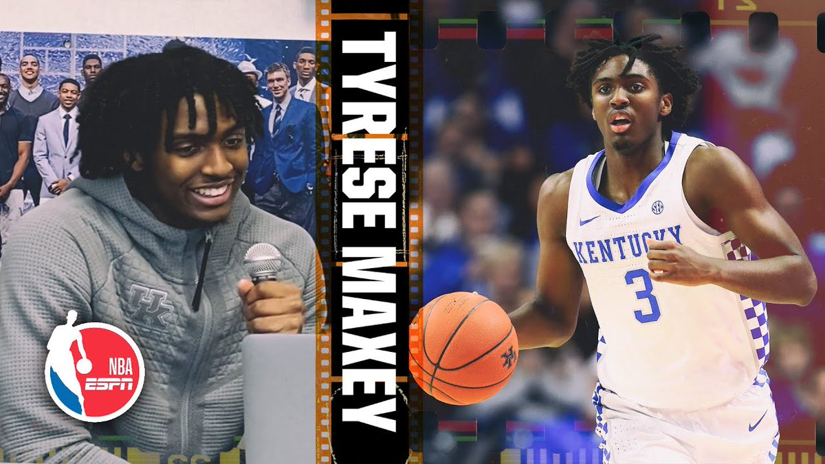 With potential top-10 pick Tyrese Maxey officially entering the NBA Draft (via @malika_andrews), learn more about his game by watching our in-depth Film Session with the Kentucky guard live from Lexington. youtube.com/watch?v=imv0rv…