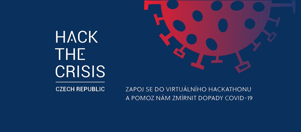 Ve spolupráci s @mpo_tweetuje a dalšími partnery spouštíme po vzoru 🇪🇪🇵🇱🇩🇪 virtuální hackathon #HacktheCrisisCZ. Cíl: podpořit a sjednotit aktivity vedoucí k boji nebo zmírnění dopadů pandemie koronaviru 🦠 a hledat konkrétní řešení pro aktuální potřeby https://t.co/8MNgjWh7Hc https://t.co/yOd2mv6nMk