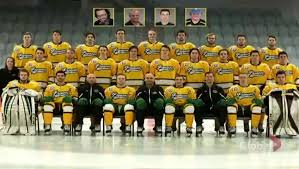 Sticks Out For the Boys! 1 year today #hockeyfamily #humboltstrong #HumboldtBroncos #GodBless #RestInPeace @mikebonelli @travjax71 @kfjexit16w @FordhamHockey https://t.co/dkWD1KagGA