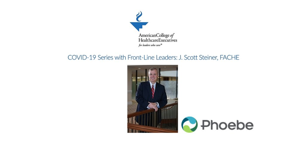 Join @ACHEConnect for a free webinar on Tuesday, April 7, featuring @Phoebe_Putney Health System CEO Scott Steiner, FACHE. Scott is sharing his insight into handling this unprecedented crisis for your organization. Learn more about the webinar here: https://t.co/eIknM9tgEr https://t.co/YwuY2MXanE
