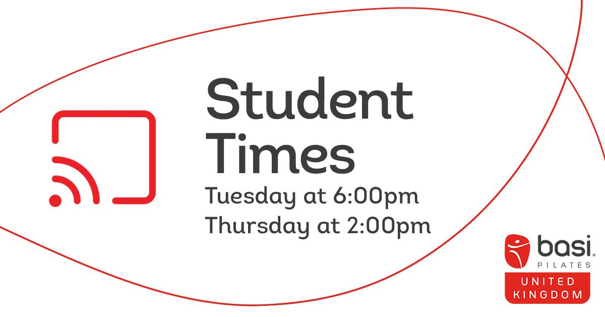 Our regular student times are every week on Tuesday at 6:00pm and Thursday at 2:00pm...  Read More: https://www.instagram.com/p/B-pNKCOgqC-/  #pilates #pilatesstudio #studio #pilatesinstructor  #pilatesuk  #basisystems #basiuk #pilateslover #studenttime #livestream #onlineclass #thepilatesclinicpic.twitter.com/ETbuNHdfKW