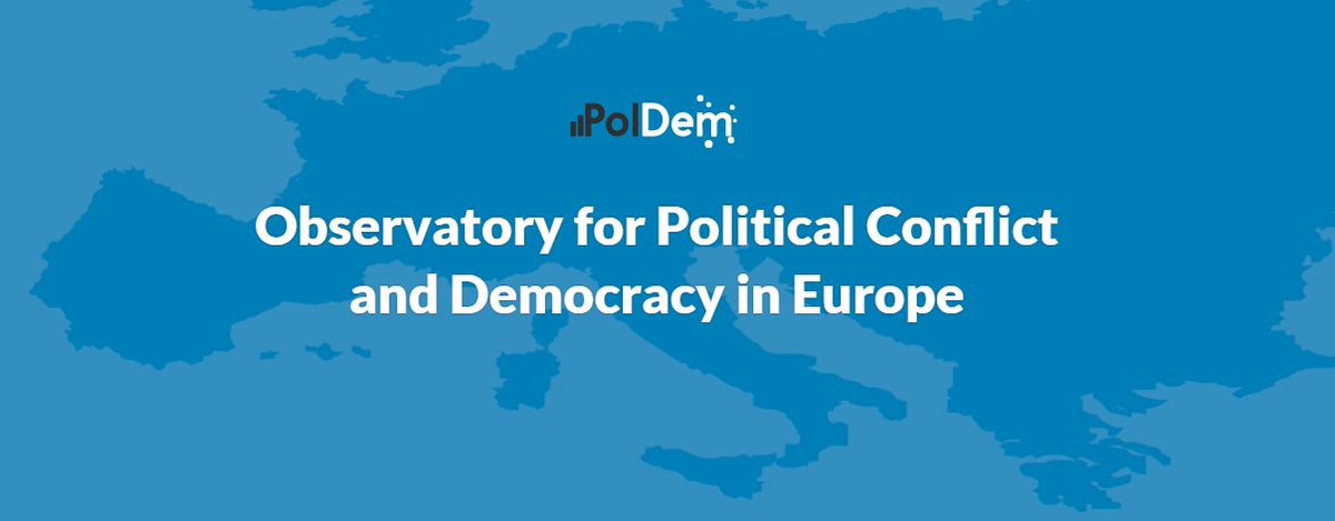 The Observatory for Political Conflict and Democracy is online 📯! PolDem, a joint initiative by @EuropeanUni & @WZB_Berlin, hosts data on protest events, election campaigns & public debates. Follow us & check our website! Take care, the PolDem team! poldem.eu