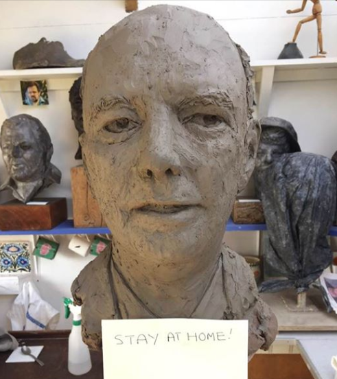 My auntie is so bored she has sculpted a rather excellent bust of Chief Medical Officer Chris Whitty 🤷♀️🎨