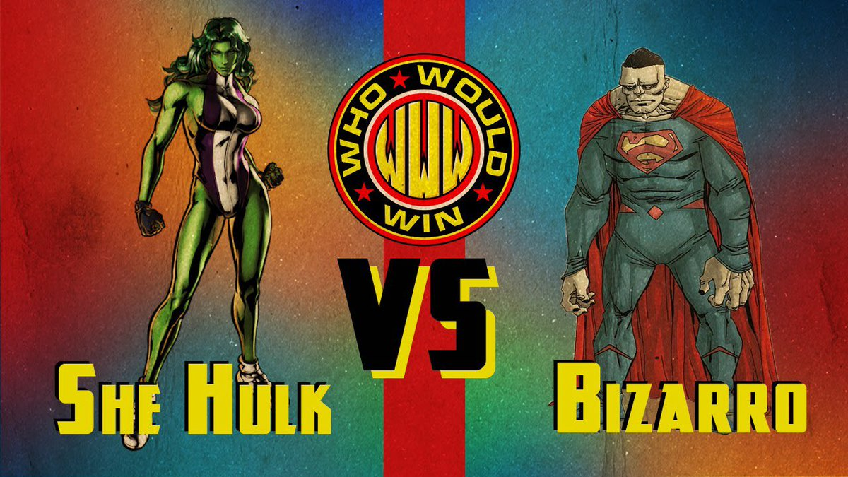 And in 2 days in the next episode of #WhoWouldWin...#Shehulk (repped by @jamesgavsie) takes on #Bizarro (repped by @AlmightyRay) with celebrity fashion designer, wearable tech innovator, and TedX Speaker Dalia Macphee (@DaliaMacPhee) judging the battle!   Who wins and how?pic.twitter.com/UQ8TtGoBl8