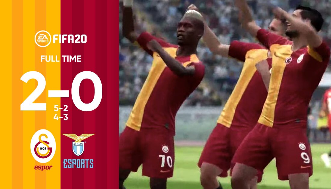Our own @GSEsports beat @OfficialSSLazio 2-0 in a friendly match-up.   Galatasaray 5 - 2 Lazio  Galatasaray 4 - 3 Lazio   @GSEsports is going to face #LazioeSports in another friendly at 17.00 CET, this time on #PES2020!<br>http://pic.twitter.com/35ixUGK9Ss