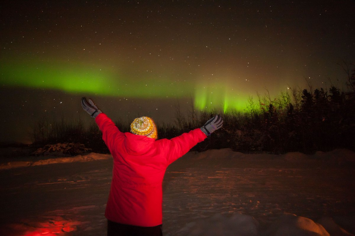 It's Monday. Get out there and give the world all you've got! #ExploreYukon #northernlights #auroraborealis https://t.co/uoIP7oF8qU