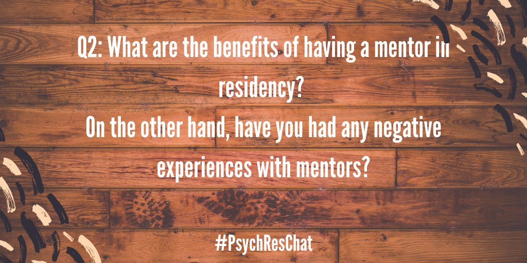 Thanks for sharing your experiences with finding mentorship! Now onto our second question. #PsychResChat