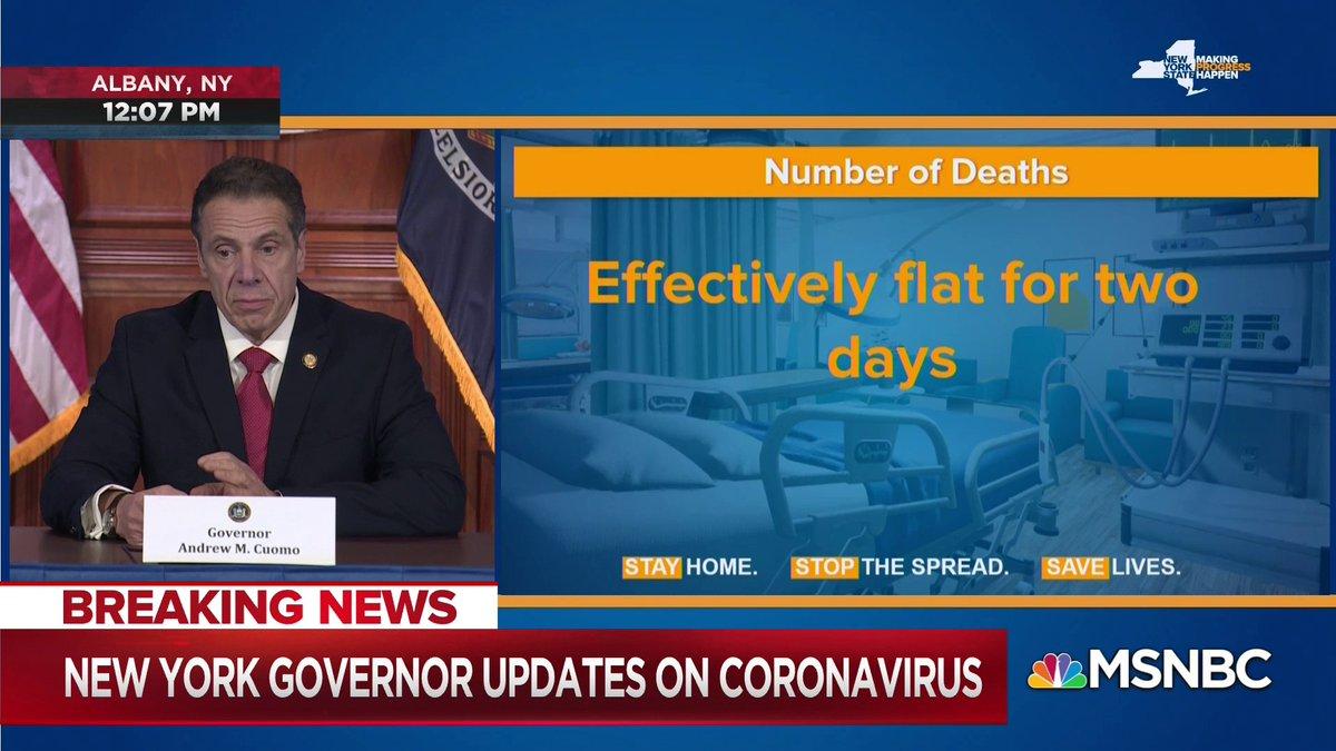 Live on @MSNBC: Gov. Cuomo gives updates on coronavirus.